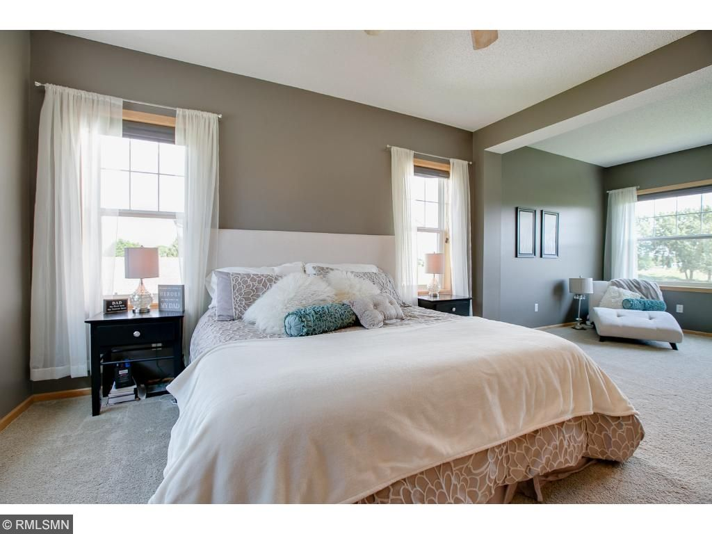 Spacious and relaxing, this master suite is the perfect setting to unwind in after a long day.