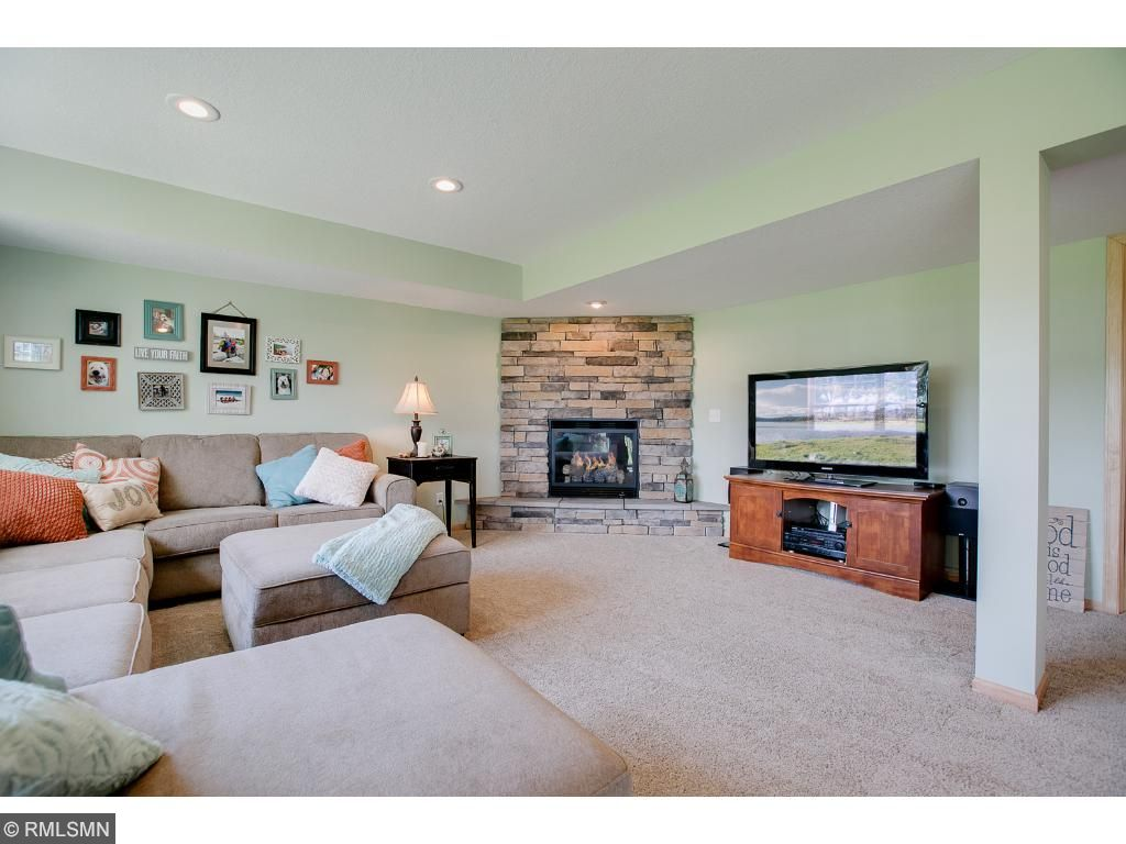 Brand new lower level welcomes you and your guests for time well spent either warming by the gas fireplace, or enjoying games and more with plenty of room for a pool table and/or a poker table.