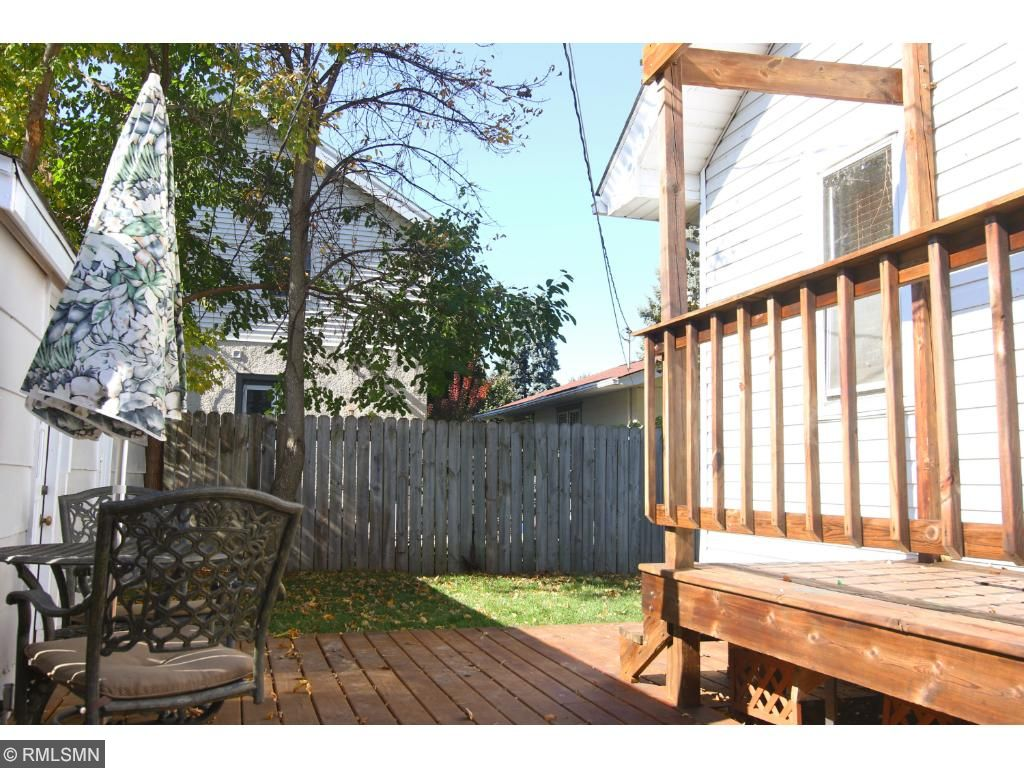 Private fenced in yard with a new deck &sSod 2016.