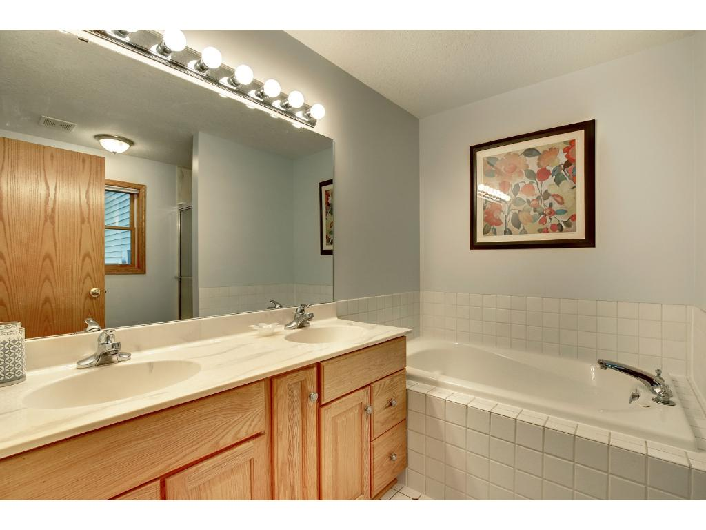 Lavish owner's suite with separate tub & shower