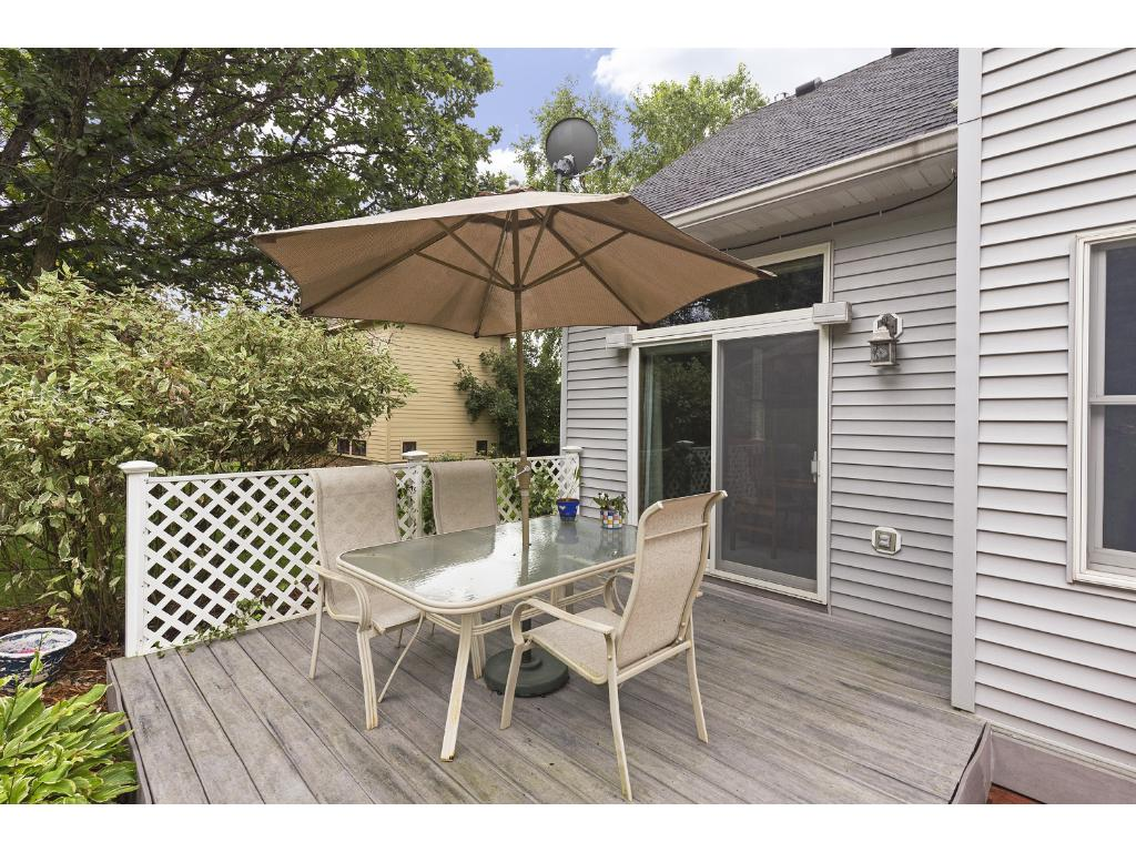 Private yard with deck