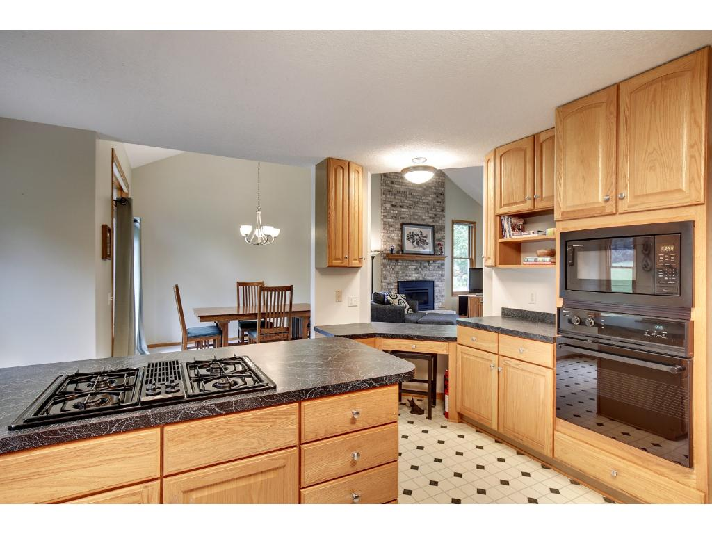 Open and sprawling kitchen