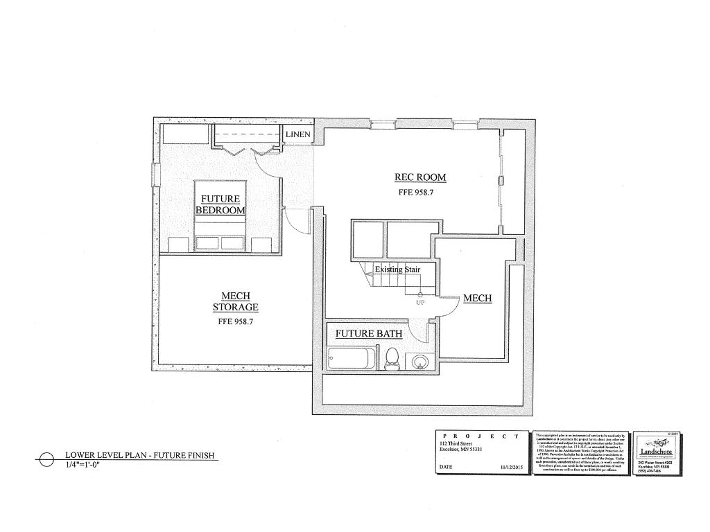 This plan shows how a 4th bdrm and 4th bath could easily be added in the basement. The rec room could also be enlarged if necessary without having to add on to the home. Contact listing agent for more info on design and pricing of these options.