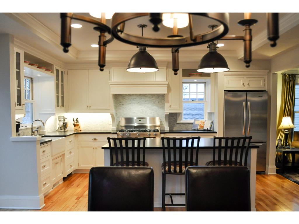 The new kitchen lives large for maximized entertaining and livability.
