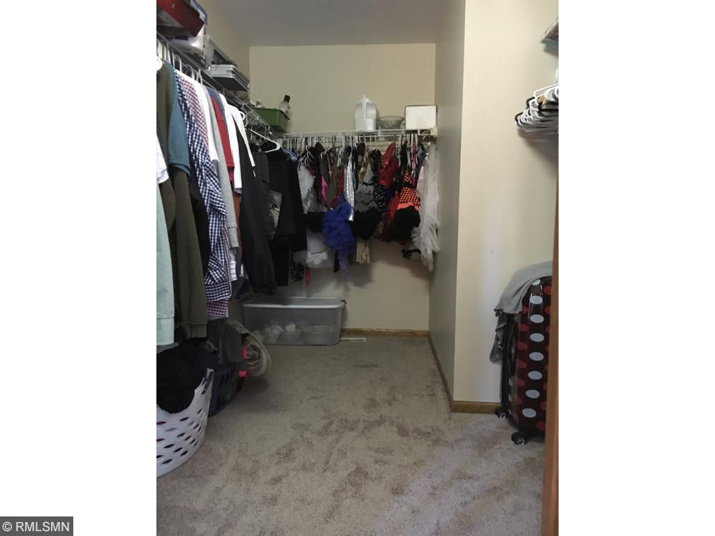 Master closet is spacious and entire master bedroom has new carpet.