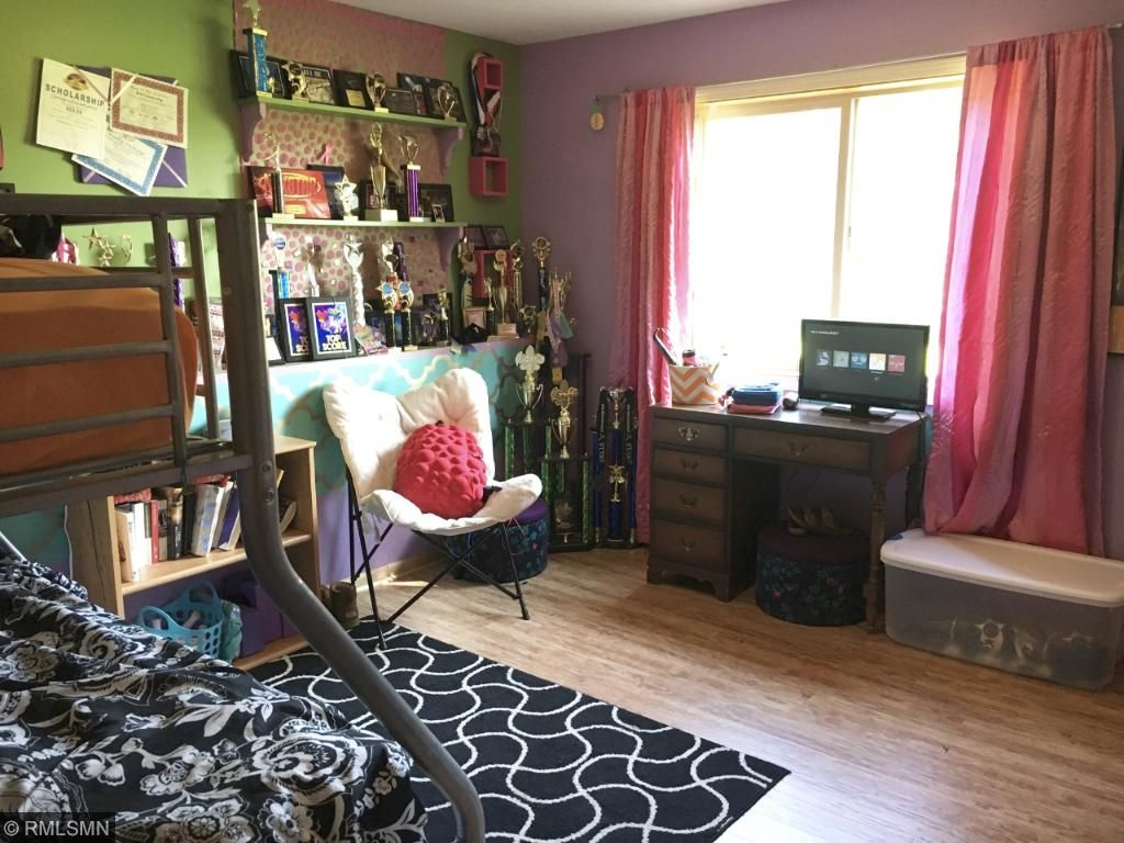 Large lower level bedroom is large enough to share with your sister (on a good day, that is!)