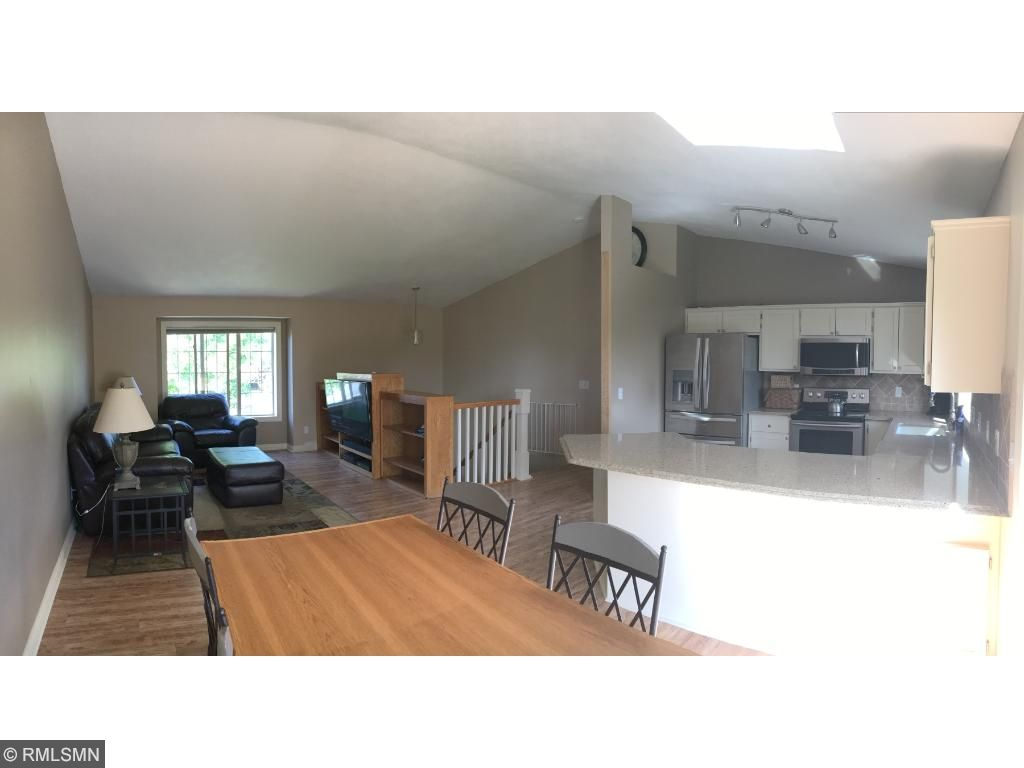 Open, modern floor plan is guest and family friendly.