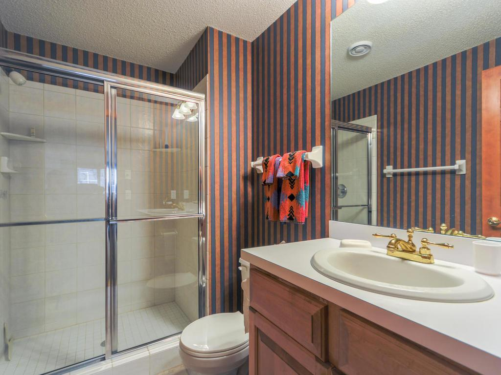 Lower level 3/4 bathroom.