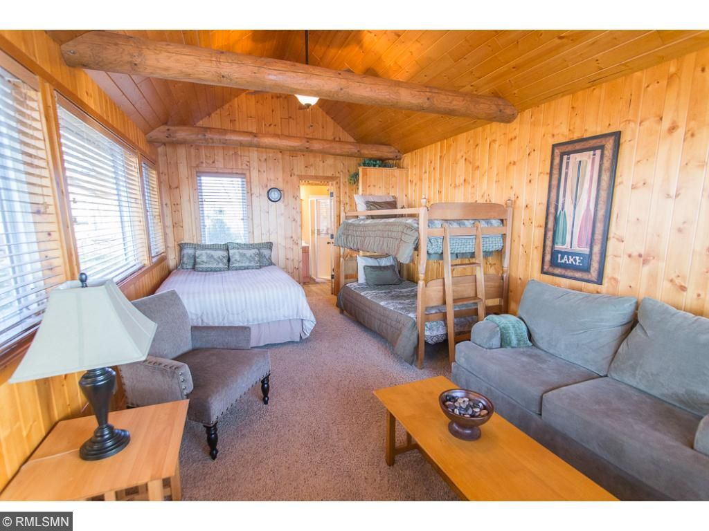 Open living in the bunkhouse.