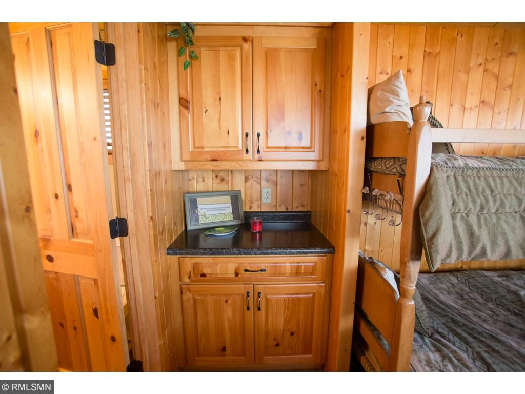 A little coffee nook in the bunkhouse.