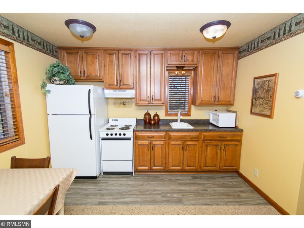 Full kitchen in the main cabin.
