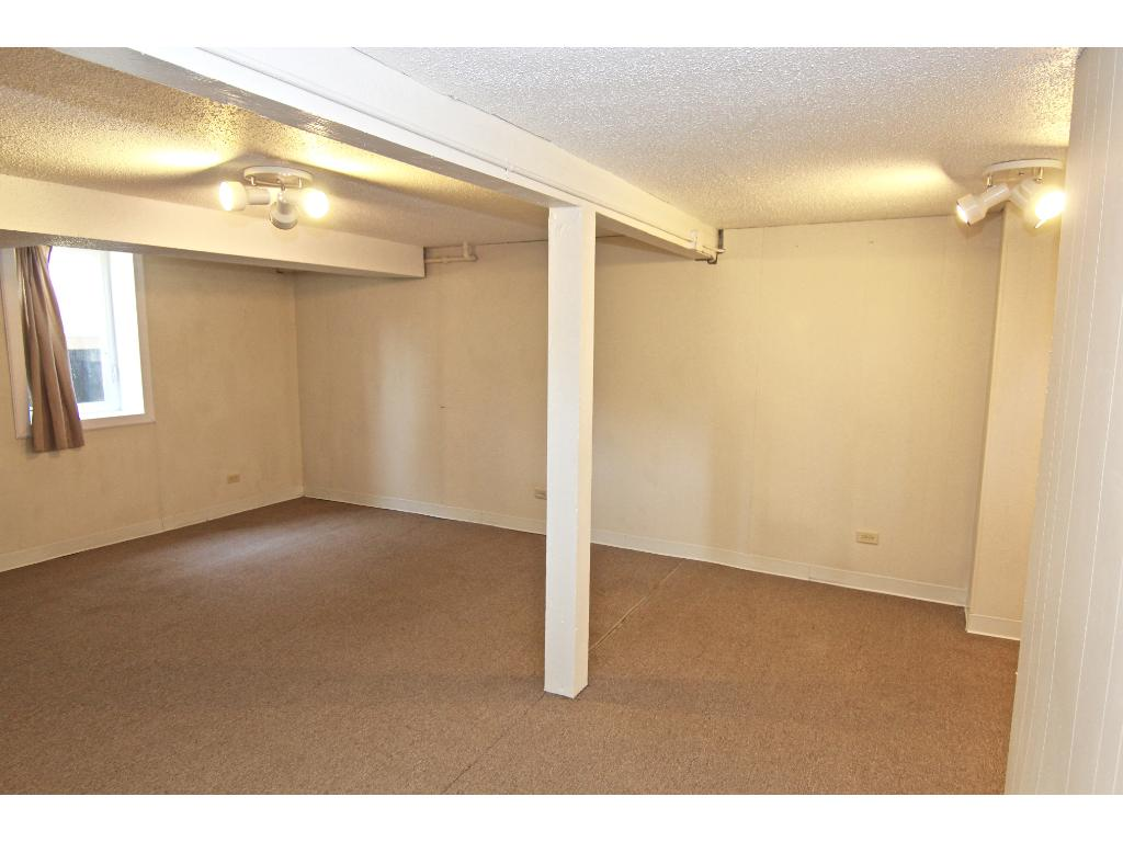 Large, lower level family room with egress window!