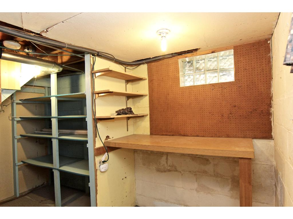 Utility room also has plenty of room for storage.