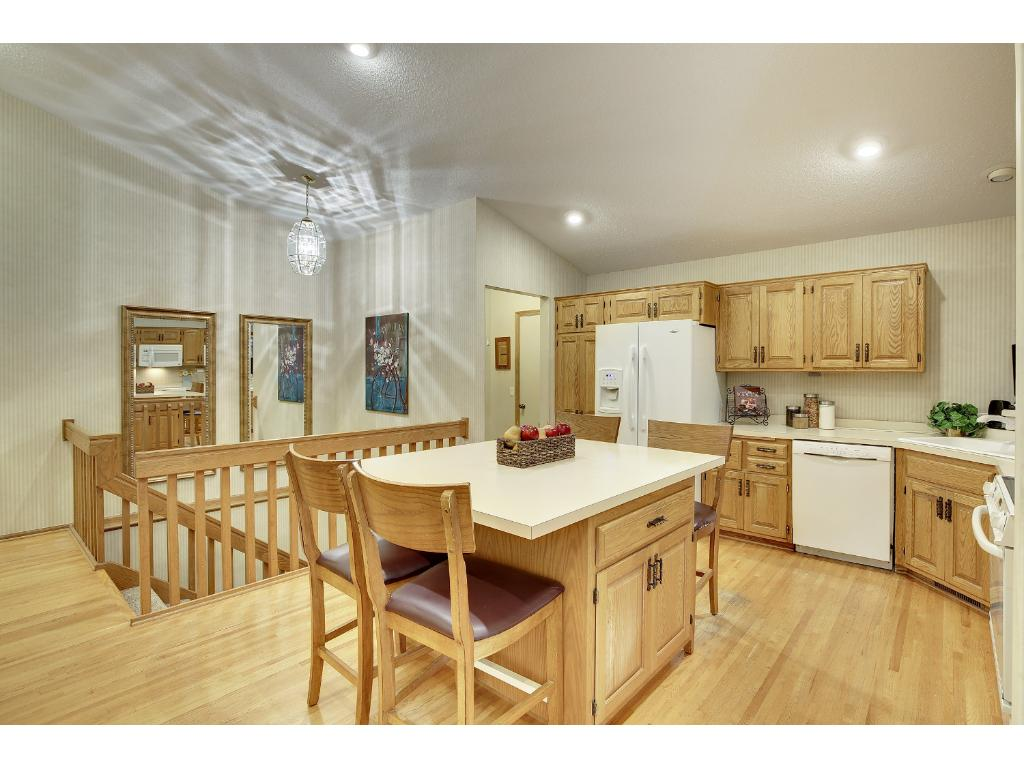 Lots of storage and countertop space in this kitchen