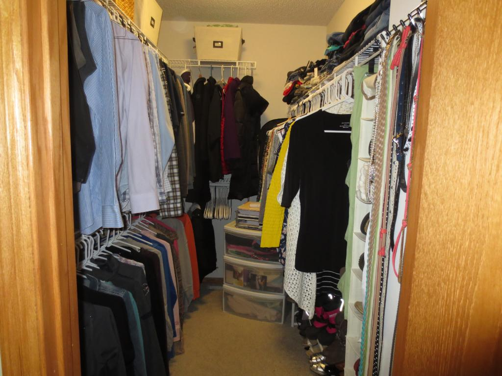 Oversized Walk-In Closet in Master BR.