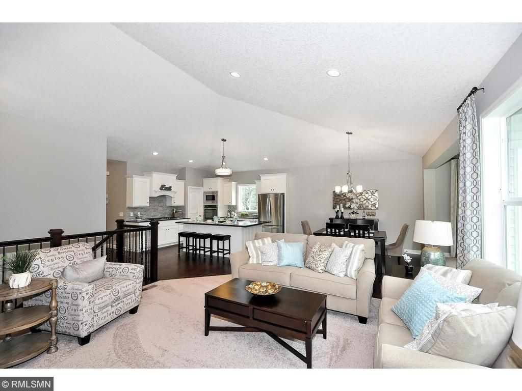 Open Concept Floor Plan with Vaulted Ceilings Perfect For Family Living and Entertaining