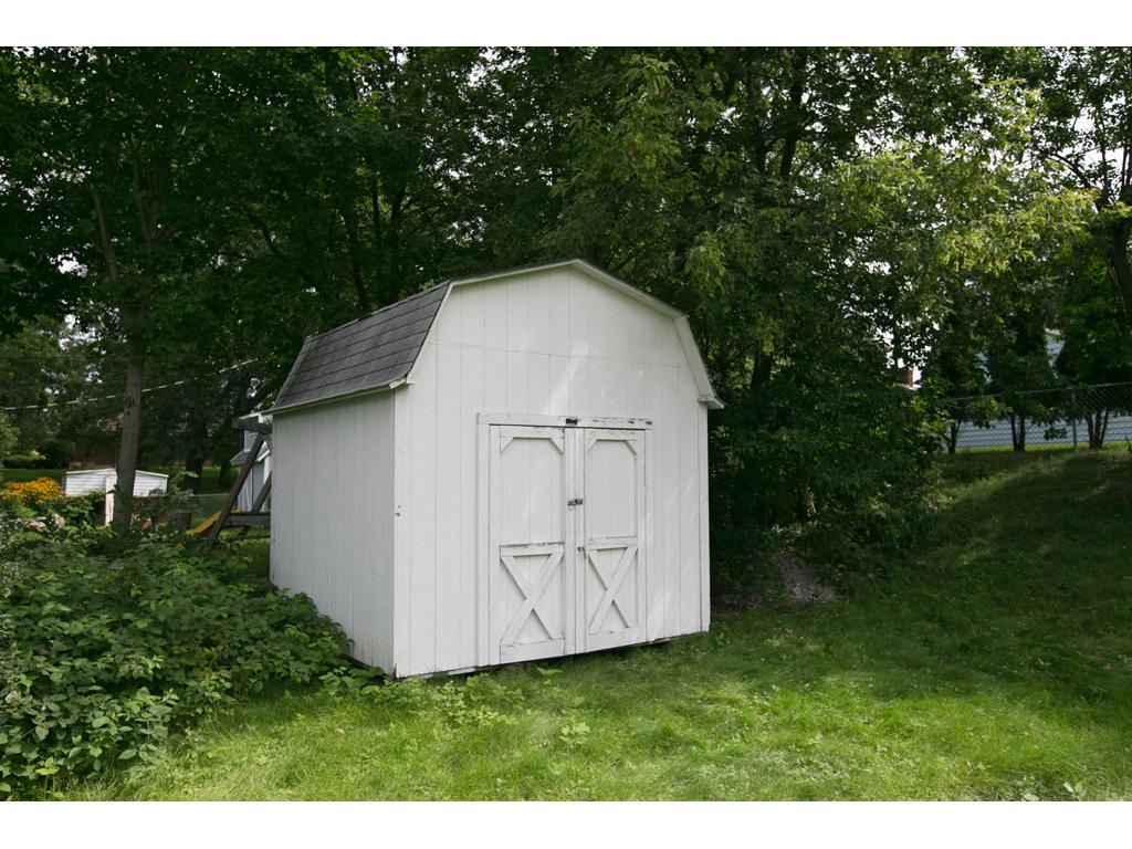 Backyard shed for extra storage