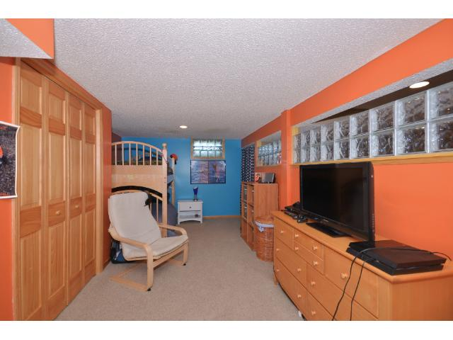 Lower level Bedroom measures 20x11 and has a large walk-in closet!