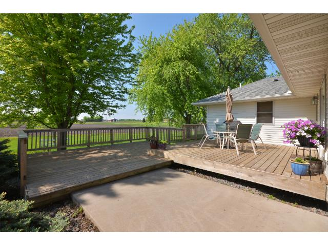 The large 500 sq ft 2-tiered cedar Deck has room for your grill, patio furniture, and all your family or friends! Sit back and relax while watching the horses frolic in the pasture and enjoy the quiet country-like living!