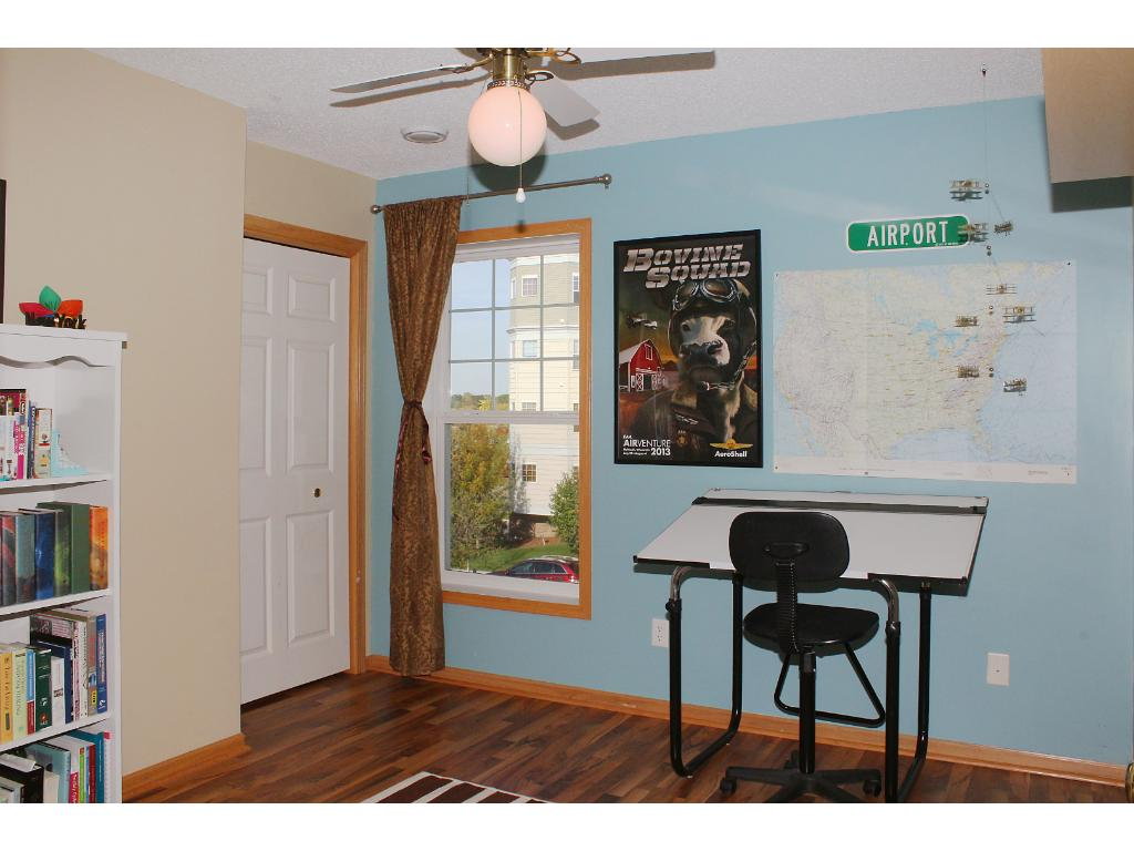 Second bedroom or great office for young professionals. Solid surface floors and ceiling fan recently added.