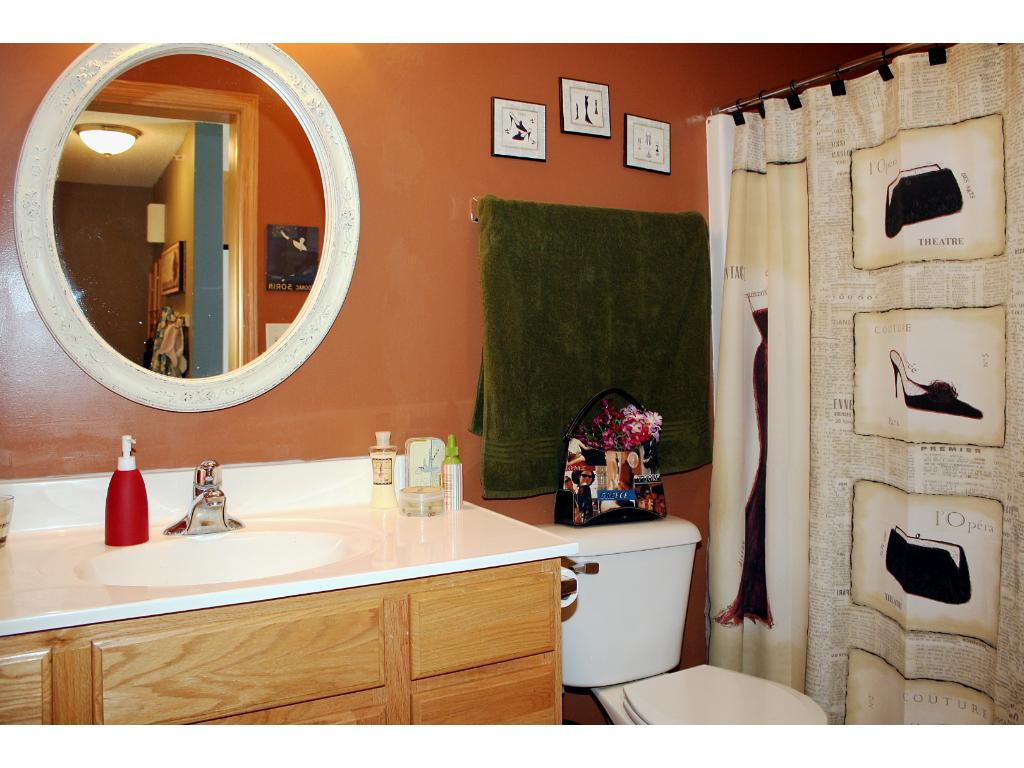 Convenient full bathroom for second bedroom and guest.