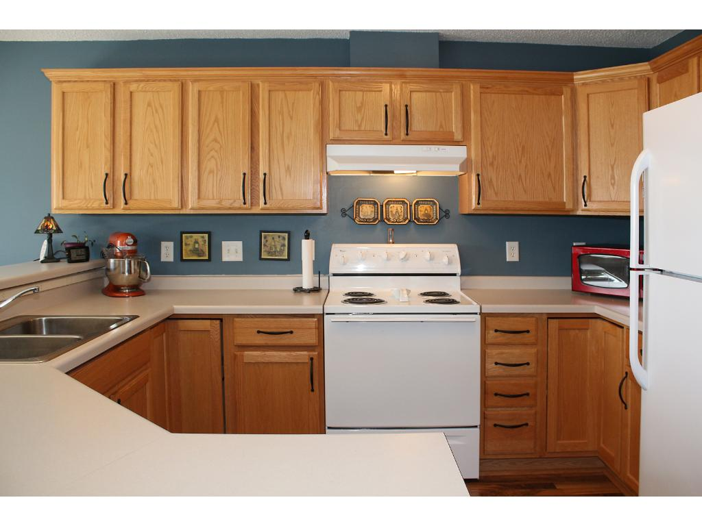For those that own every kitchen gadget made, this home has you covered. The wrap around kitchen provides excellent storage. Items that require electricity were not forgotten as outlet placement & quantity was carefully considered.