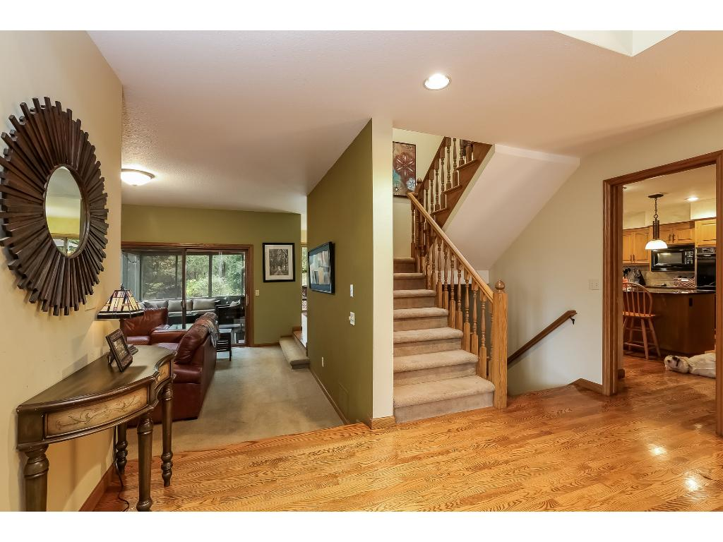 Spacious Entry with Closet and Natural Light.