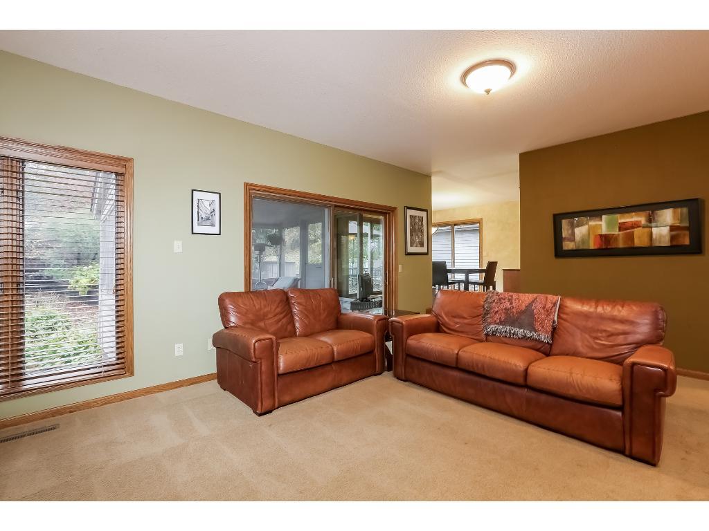 Living Room with three season porch.