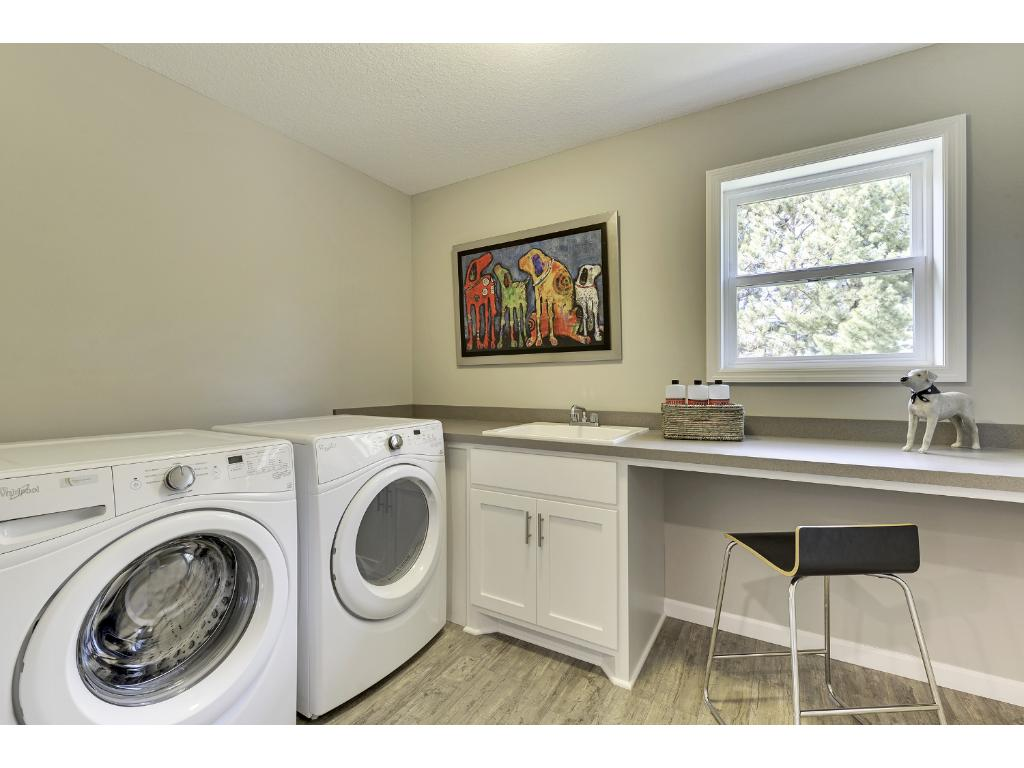 Laundry upstairs with washer and dryer