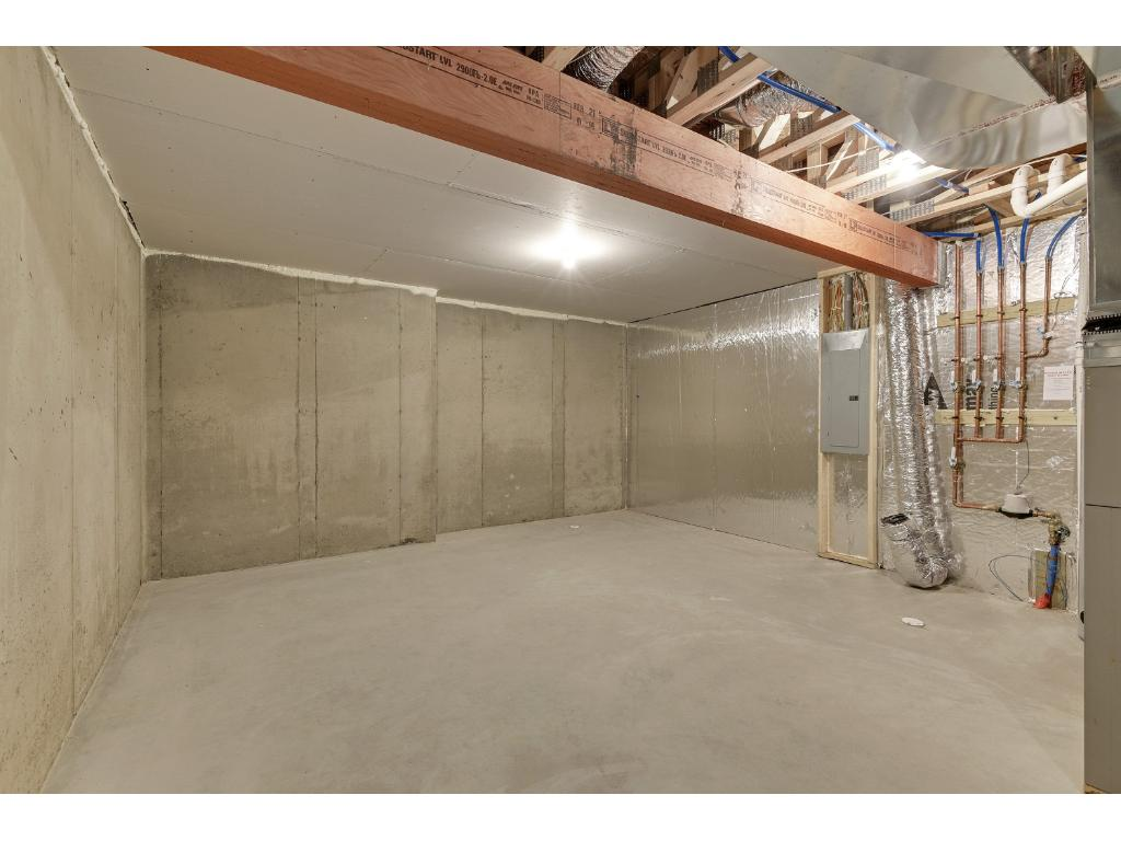 Large Unfinished Storage Area in the Basement