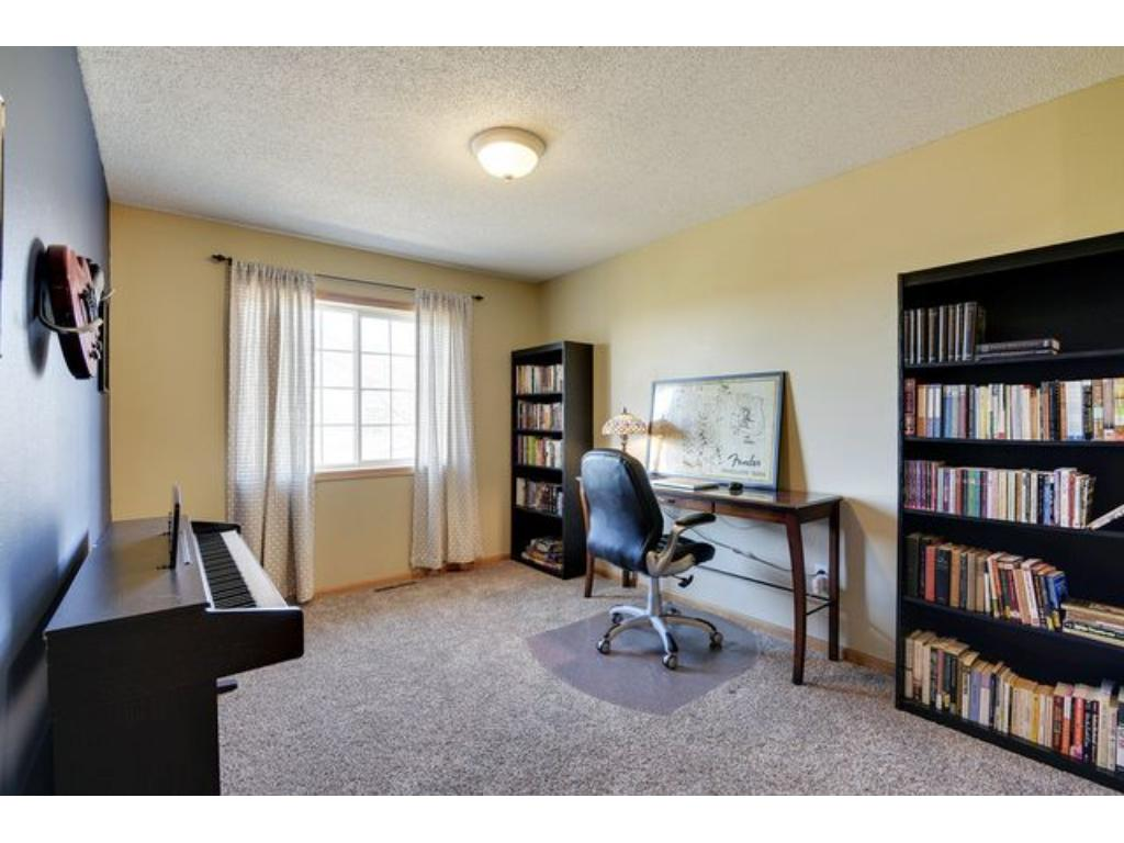 Great loft area provides room for guests, office or game room.
