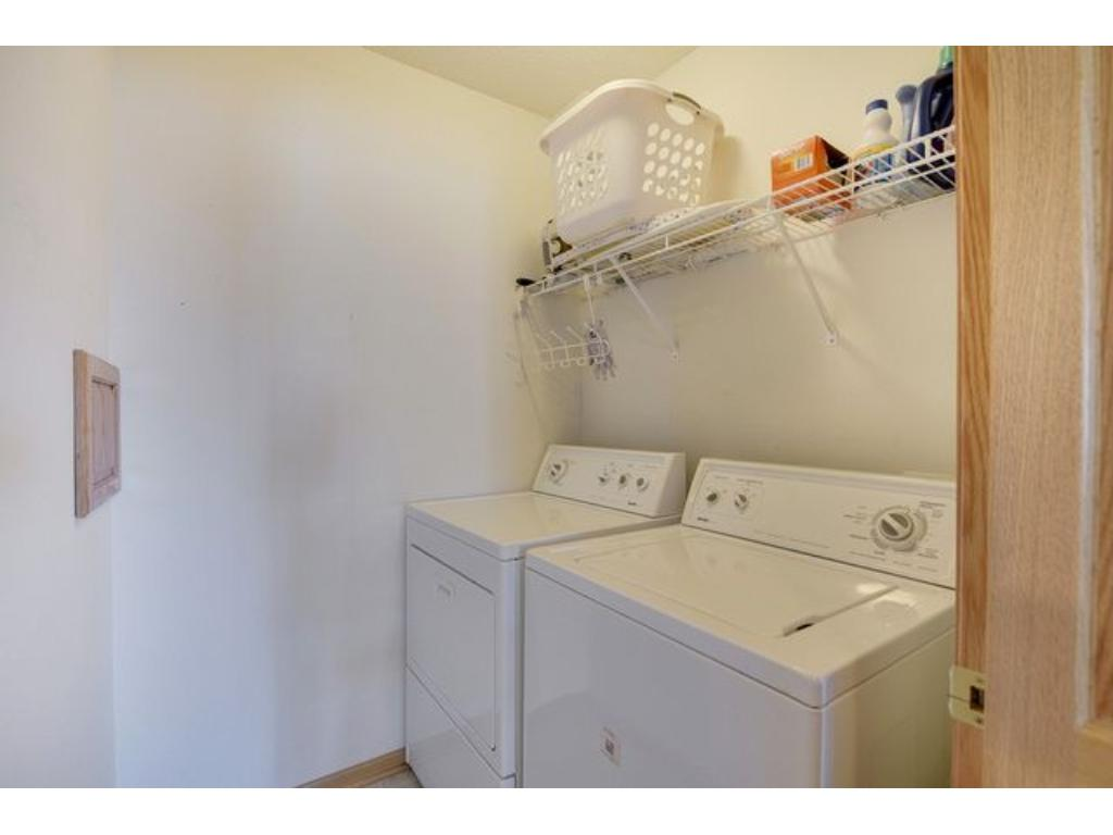 You will no longer have to carry laundry with this upper level laundry room.
