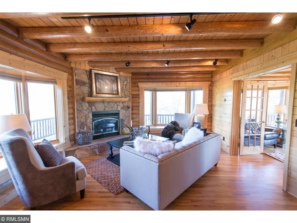 Your Dream Home Awaits!! Cozy up in front of the fireplace and take in the spectacular views from this beautiful log home on 22 acres.