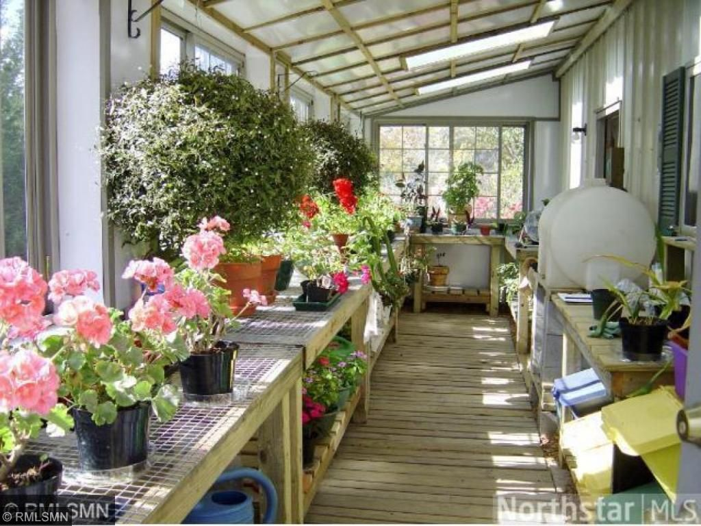 Interior of the greenhouse.