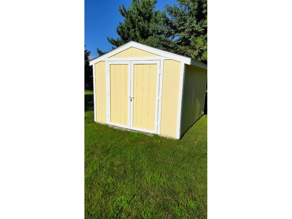 Yep, the storage shed stays!  Use it for all your lawn care items or convert to your own private man cave!