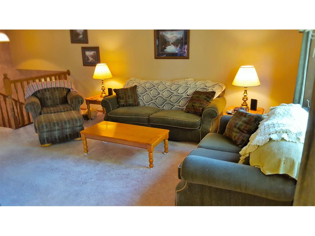 Over sized living room is a great place to entertain or simply hang out with the family.