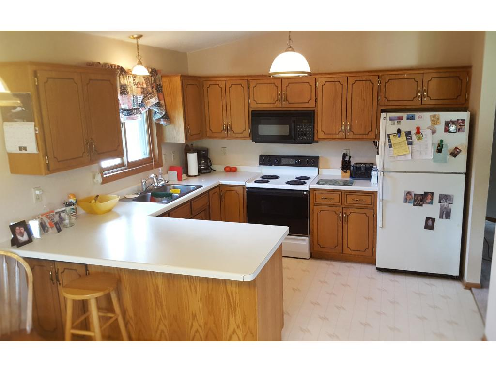 Open kitchen has plenty of workspace for any home chef!