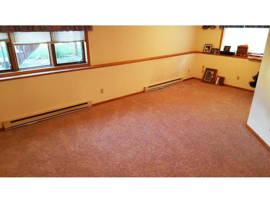 MASSIVE family room in the lower level has NEW CARPETING and is ready for your decorative touch!