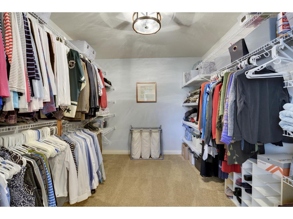 Master suite closet.