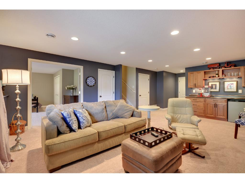 Lower level family room. Also some great storage closets.