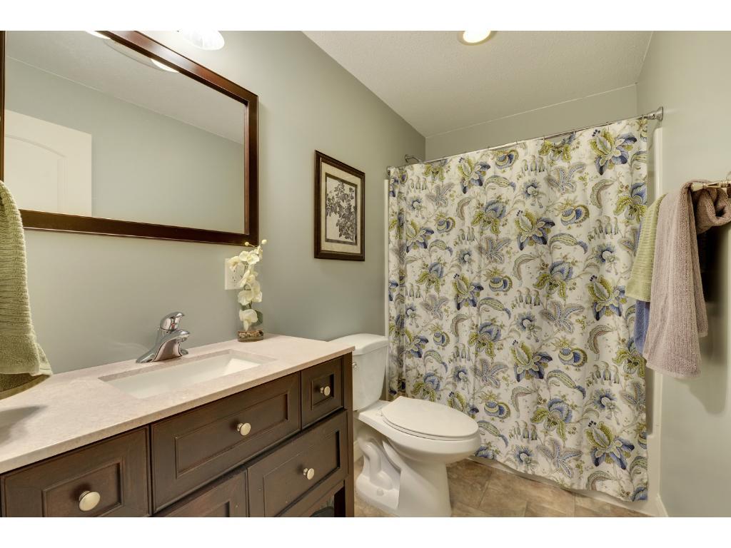 Lower level full bathroom.
