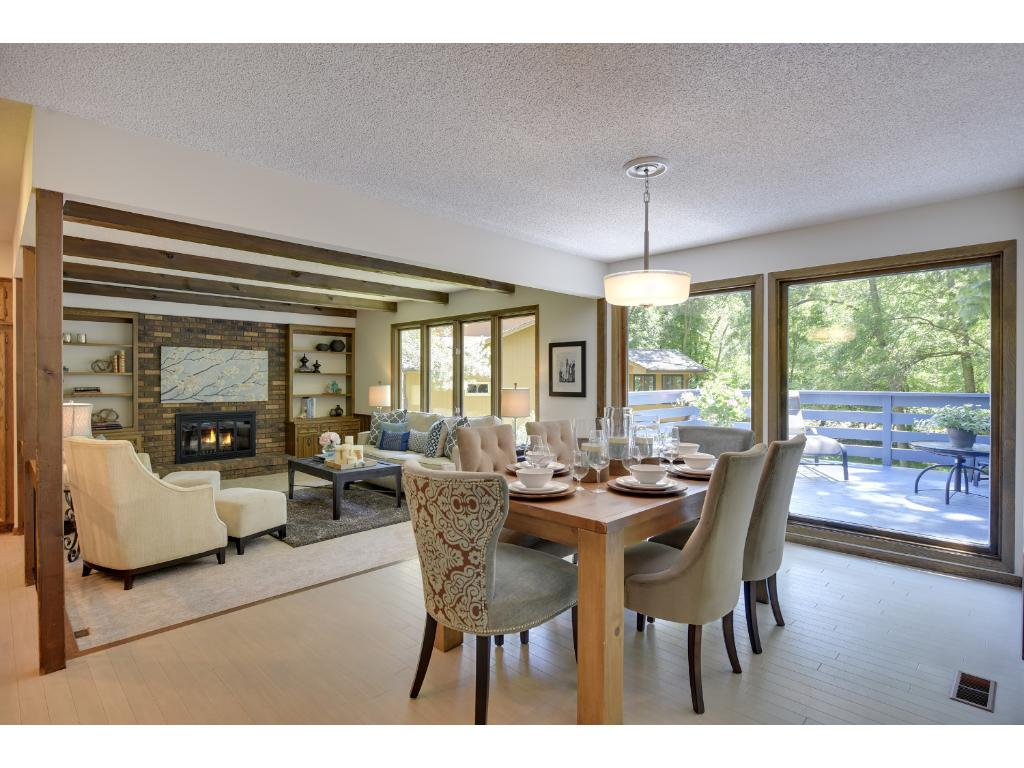 Formal Dining Room is adjacent to Living Room and open Kitchen area.
