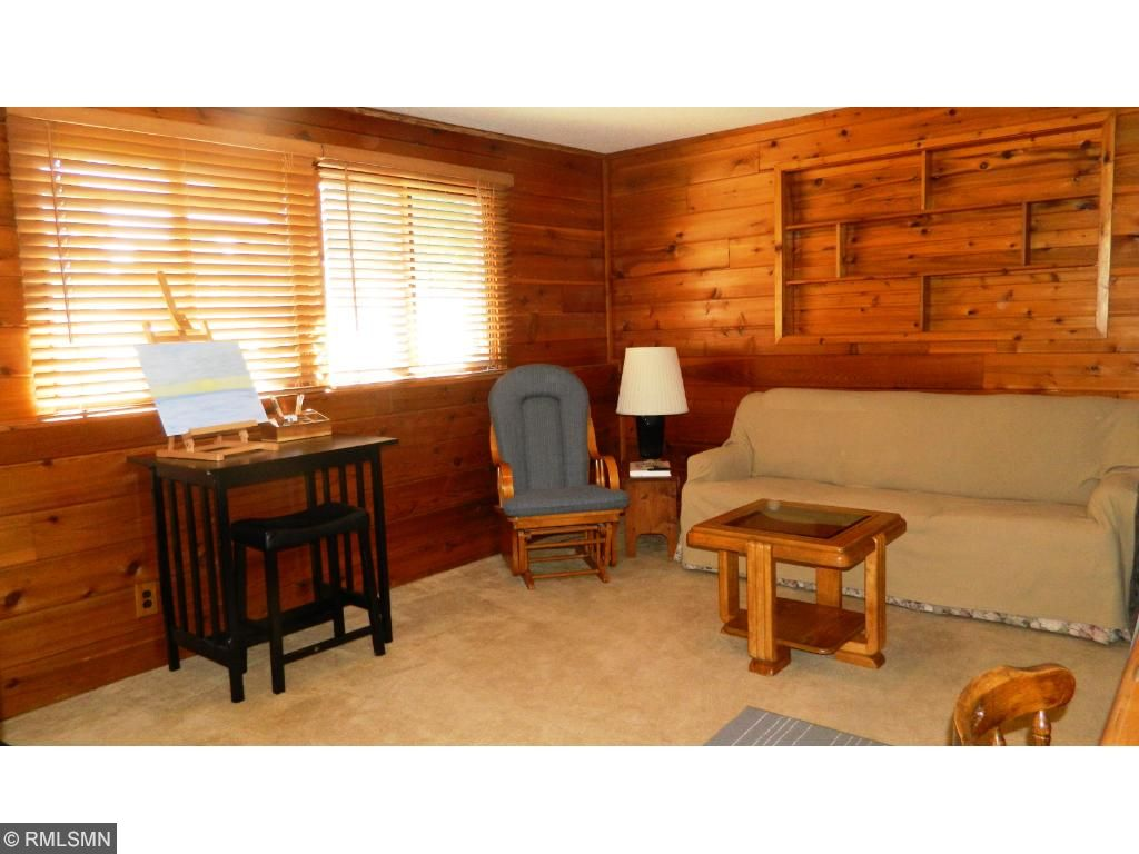 The lower level family room is very comfortable and spacious. Great for entertaining.