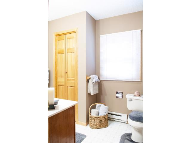 This main-floor bathroom is conveniently located near the bedrooms. 11683 E. Point Rd., Lake Nebagamon, WI