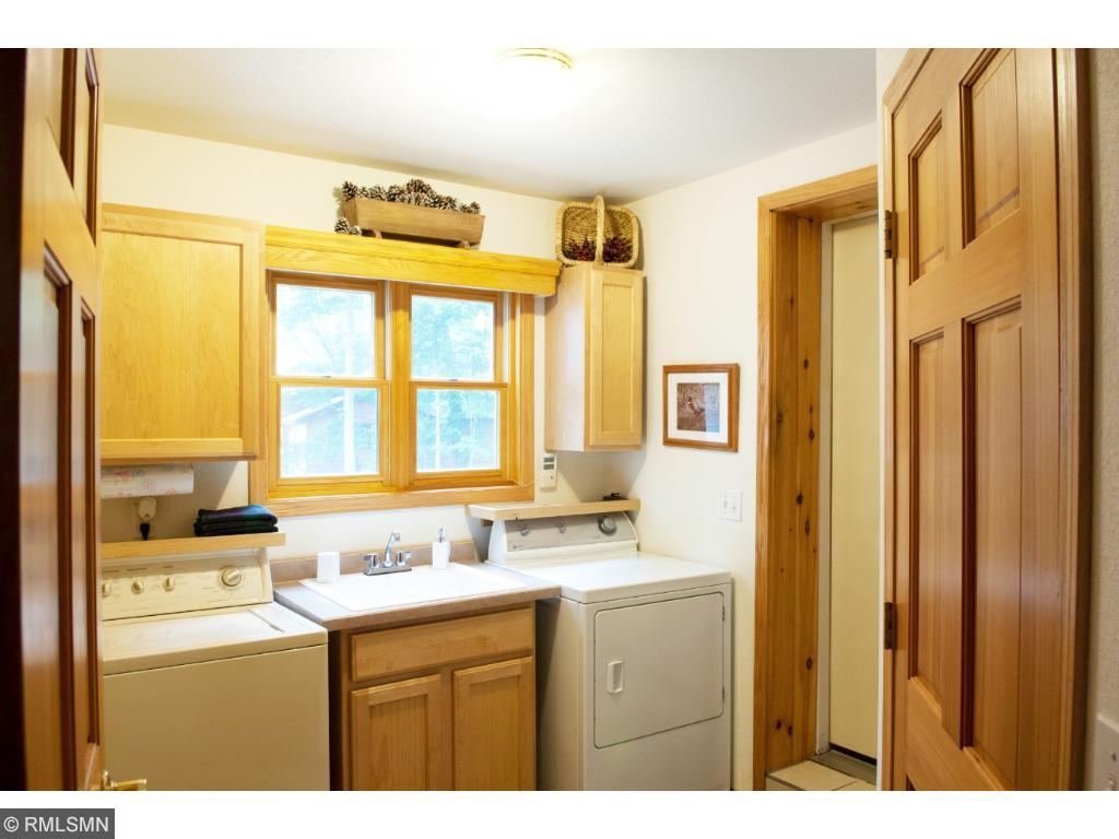 This bright main-floor laundry makes the chore a little more enjoyable. 11683 E. Point Rd., Lake Nebagamon, WI