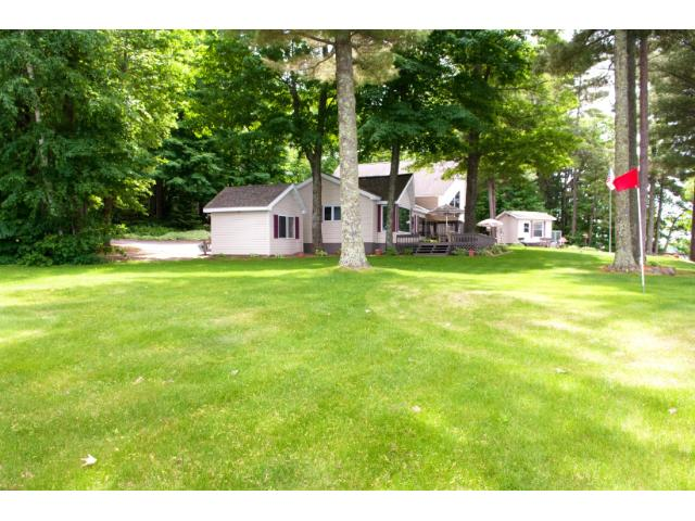 The meticulously cared for lawn is golf course like! 11683 E. Point Rd., Lake Nebagamon, WI