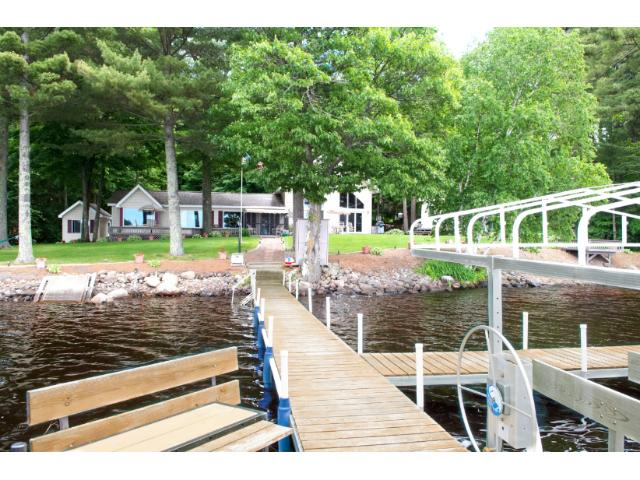 Enjoy boating or simply sitting on your dock watching the sunset. 11683 E. Point Rd., Lake Nebagamon, WI