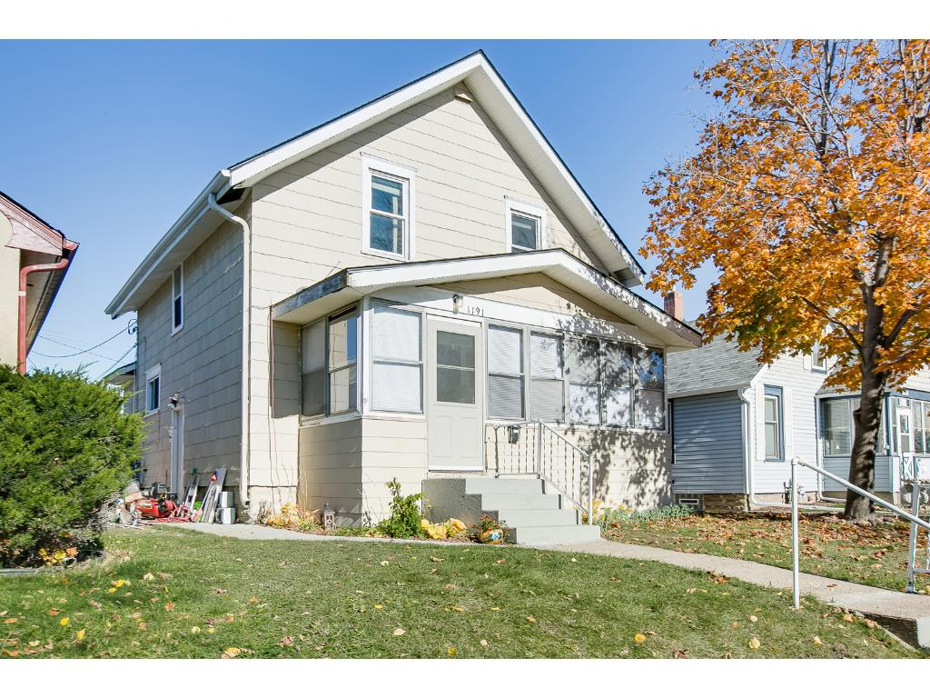 Welcome to 1191 Minnehaha Avenue W in Saint Paul MN 55104.  This amazing two story home features four bedrooms with three of them on one level, spacious living areas, tons of natural light and off street parking.