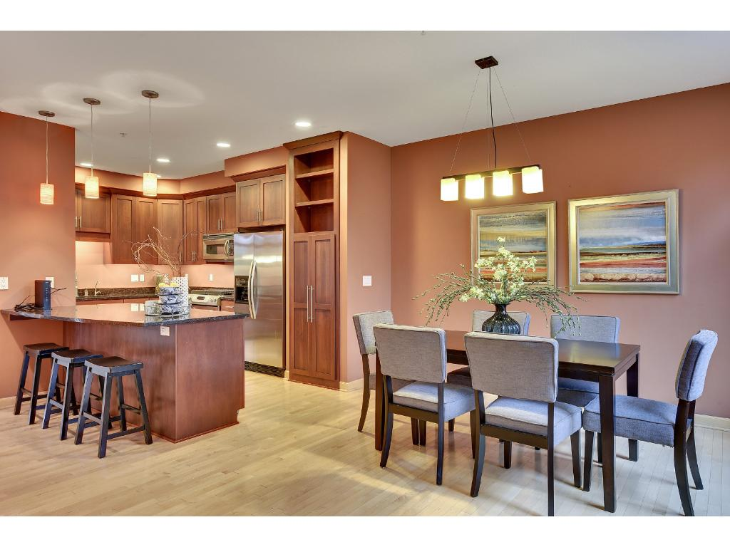 Fabulous kitchen and dining spaces...