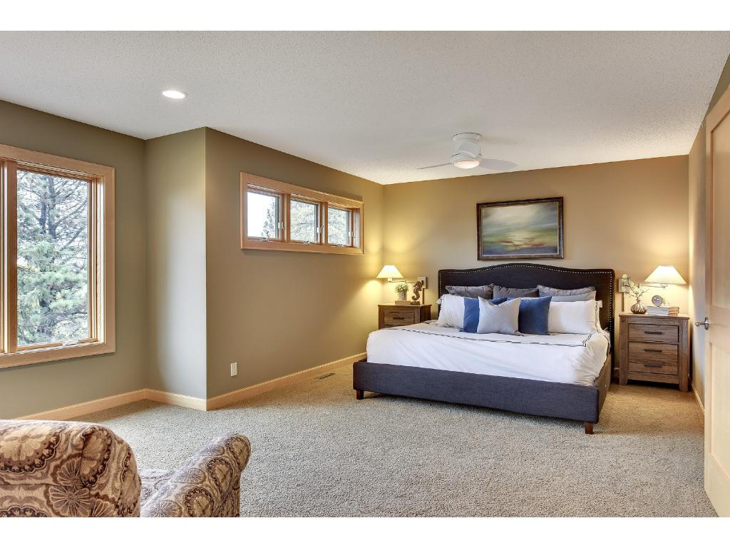 Spacious upper level owners suite...